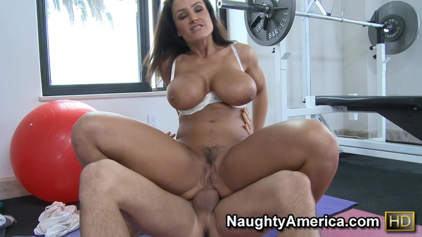 Mature brunette Lisa Ann is placed on a hot cock
