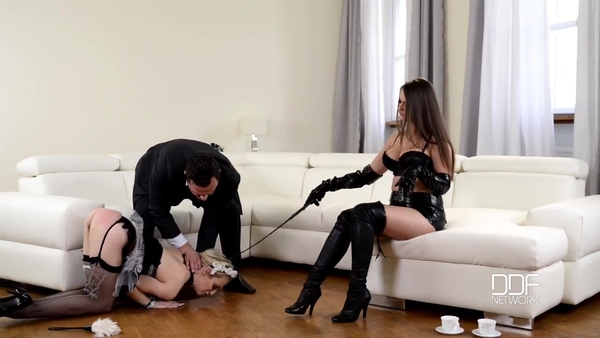Fetish couples and attractive maid