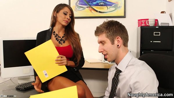 German Madison Ivy gets fucked with a charming chief