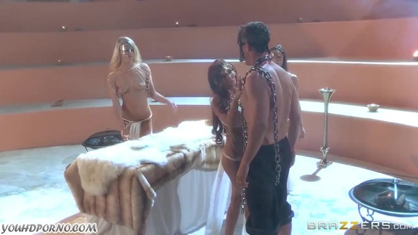 Cleopatra engaged in anal sex with a slave